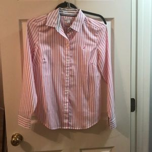 Nautical pink striped button down